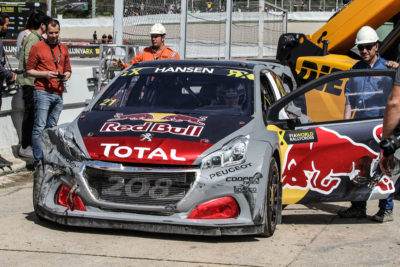 Peugeot Redbull WRX Accidente
