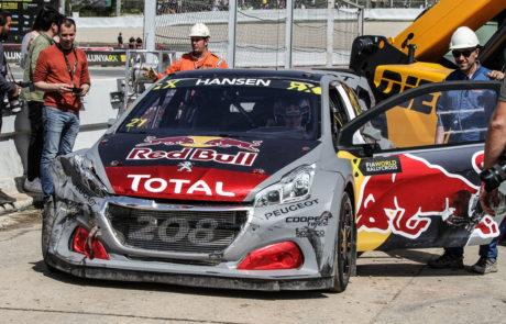Peugeot Redbull WRX Accidente