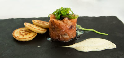 Tartar salmon gastronomia DME GT CLUB