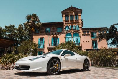 Ferrari blanco 458 italia
