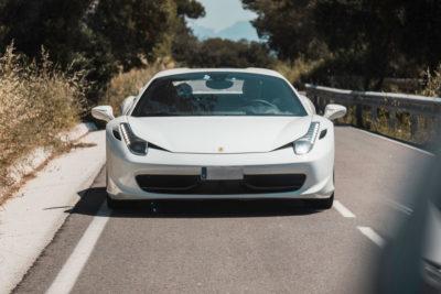 458 Ferrari italia blanco